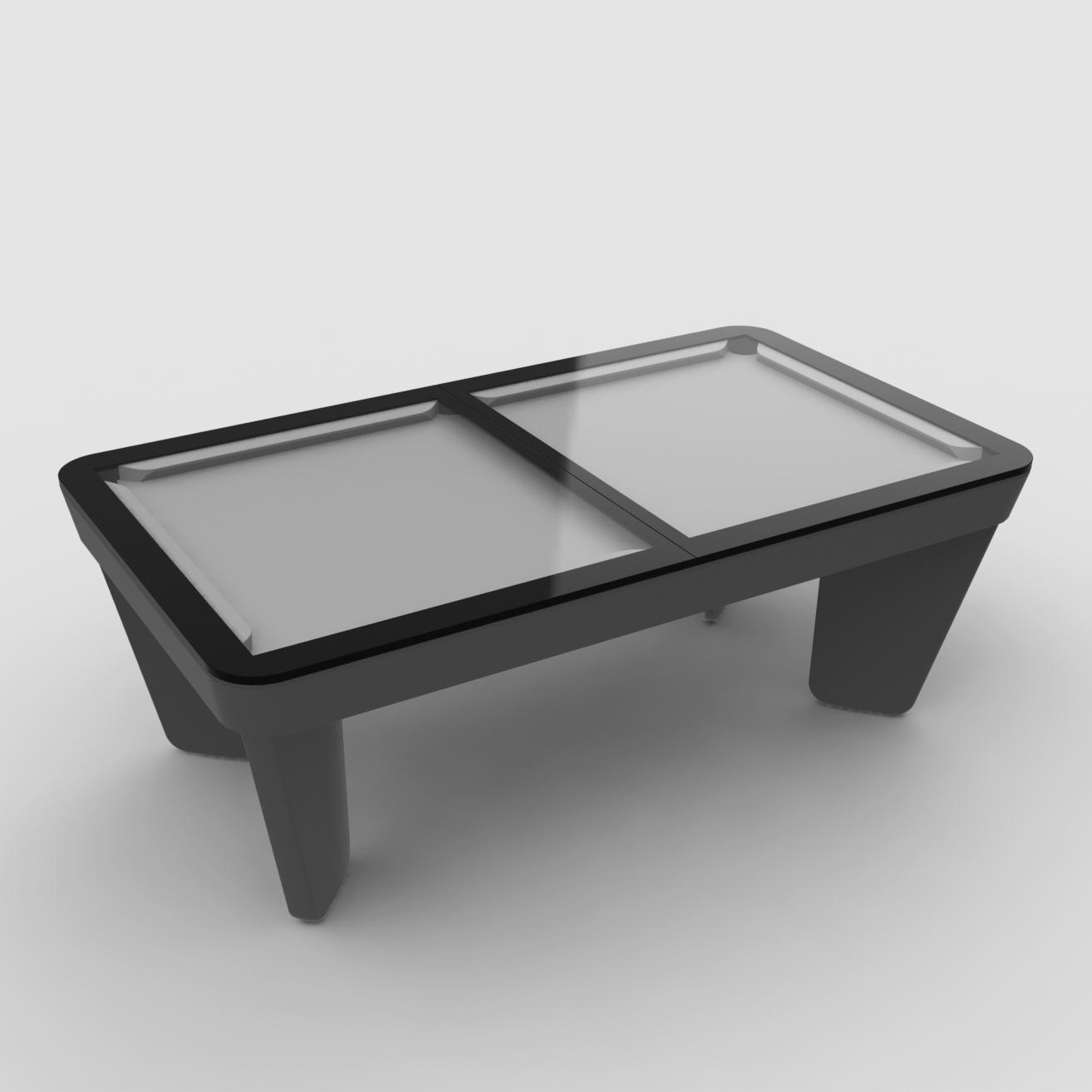 Plateaux table 2 parties en verre