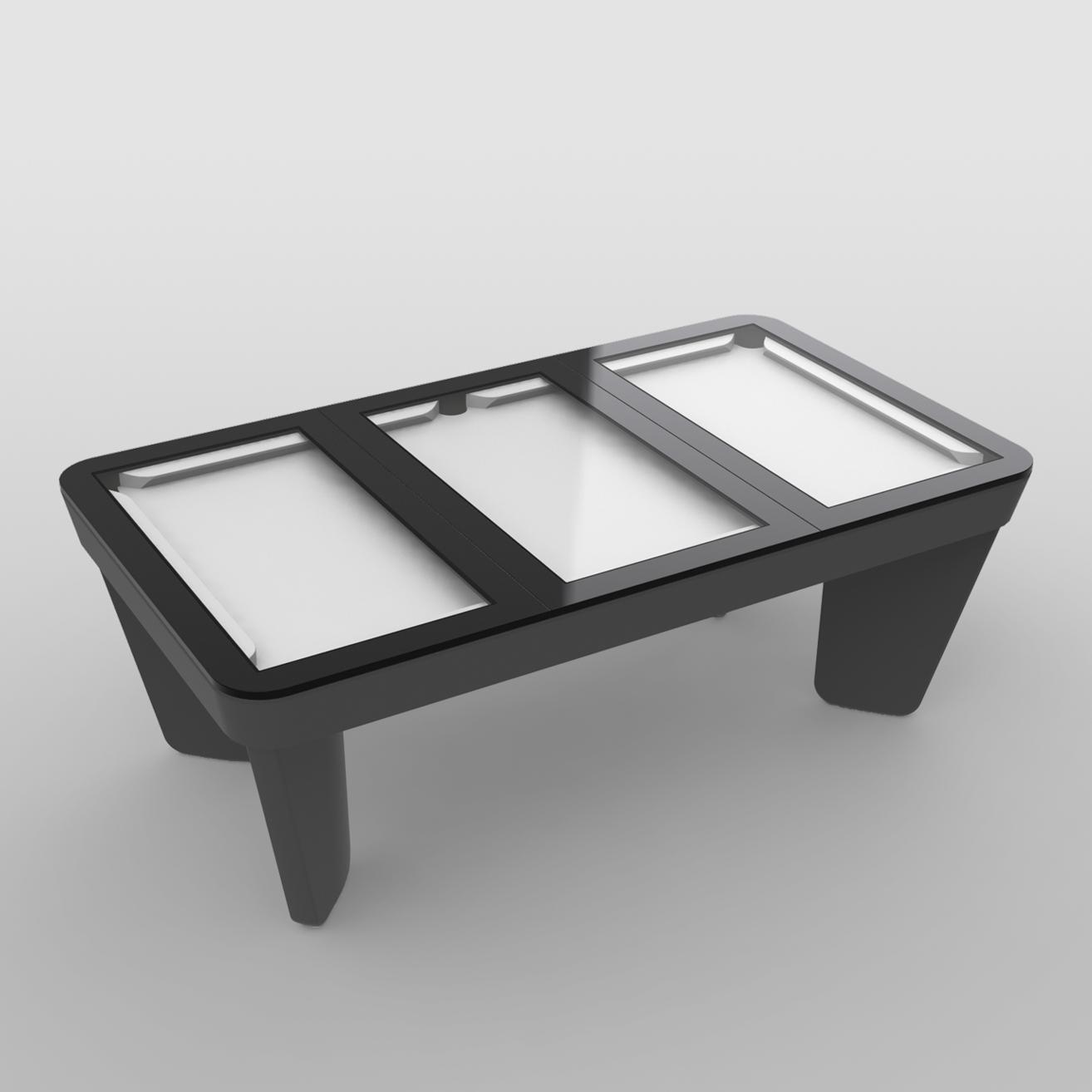 Plateaux table 3 parties en verre