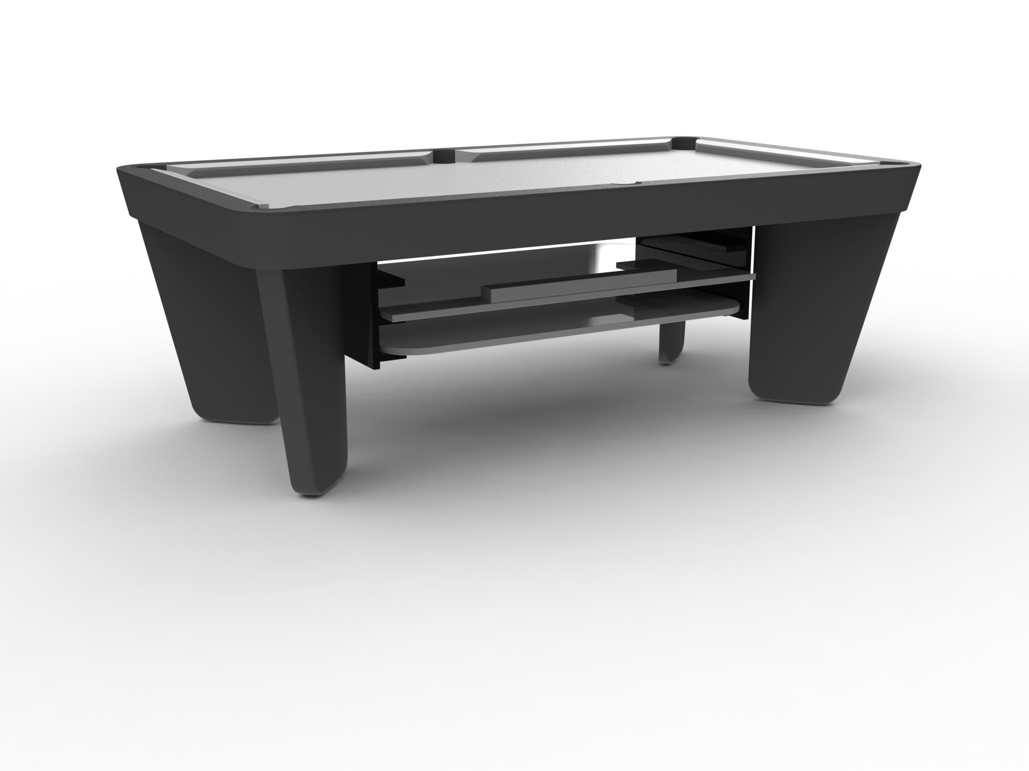 Range plateaux-table escamotable pour billards Montfort