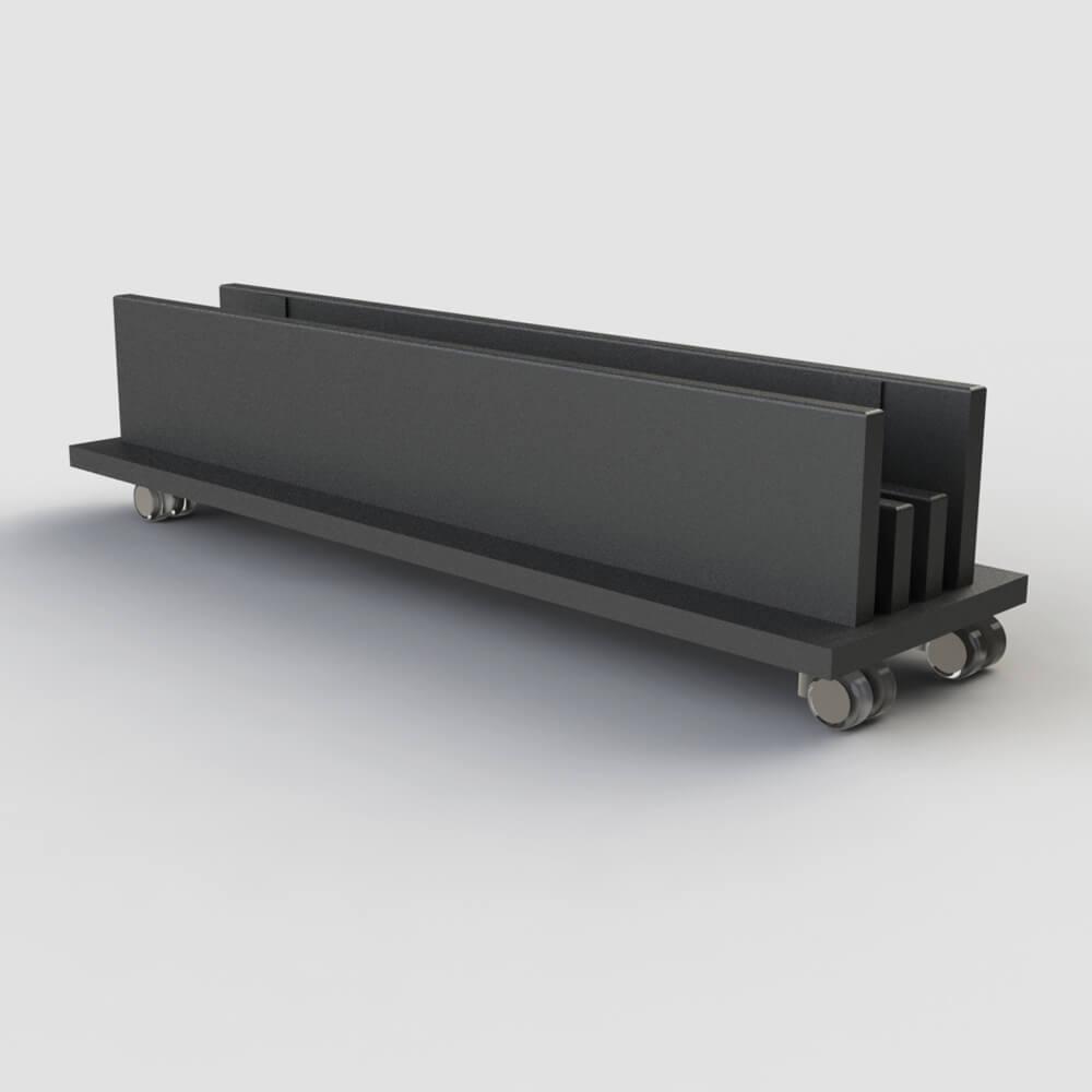Range Plateaux-table sur roulettes